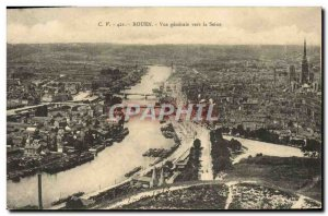 Old Postcard Rouen Vue Generale By The Seine