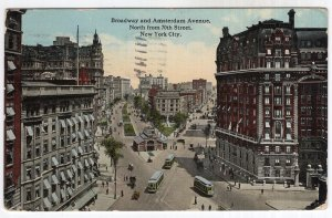 Broadway and Amsterdam Avenue, North from 70th Street, New York City
