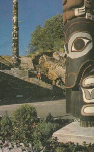 PRINCE RUPERT , B.C. , Canada , 1950-60s ; Indian Totems in service park