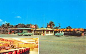 Lake Worth Lantana FL The Duke Drive-In Restaurant Old Cars Postcard