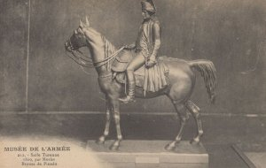 Bronze Pinedo Military Mounted Army Horse Statue Musee De L'Armee Postcard