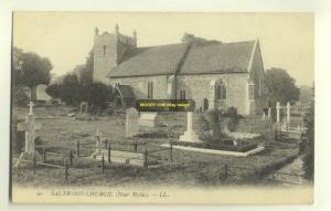 cu1068 - Saltwood Church , Kent - LL postcard