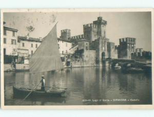 old rppc NICE VIEW Sirmione In Brescia - Lombardy Italy i3188