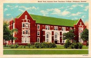 Kansas Pittsburg Music Hall Kansas State Teachers College Curteich