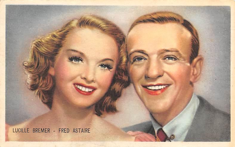 Lucille Bremer & Fred Astaire Trade Card Unused