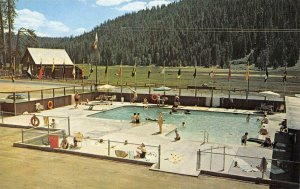 CHILDS MEADOWS RESORT Mill Creek, CA Swimming Pool 1963 Vintage Postcard