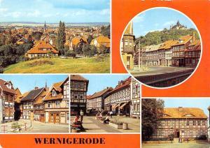Wernigerode multiviews Teilansicht Westernstrasse Harzmuseum Panorama