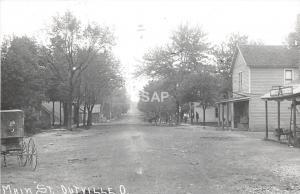 B49/ Outville Newark Licking Co Ohio Postcard Photo RPPC 1980REPRINT Main Sreet