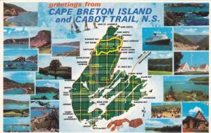 20-views, Map, Greetings from Cape Breton Island and Cabot Trail, Nova Scotia...