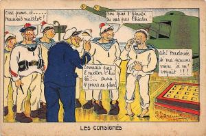 Les Consignes illustration signed card military