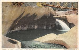 Franconia Notch NH Detroit Publishing #10832 The Basin in the White Mts c1910