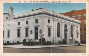 U.S. Post Office & Federal Building, Gainesville, GA, Early Postcard, Unused