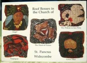 England Roof Bosses in the Church of St Pancras Widecombe - posted