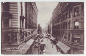 P924 1940 summer street scene from washington, boston mass