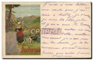 Postcard Old Train Auvergne Folklore Railways & # 39Orleans and PLM Chevre Bouc