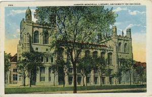 University of Chicago Postcard Harper Memorial Library