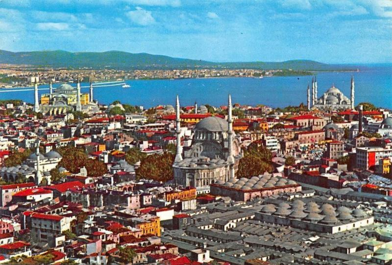 Turkey Istanbul The Magic City and it's Mosques Panorama