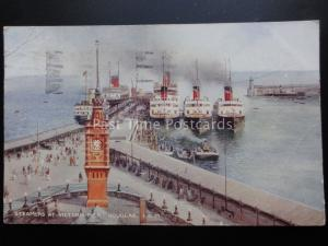 Isle of Man: Steamers at Victoria Pier DOUGLAS c1934 by Valentine's A244