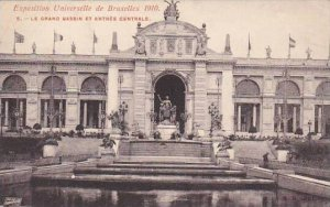 Exposition Universelle Bruxelles 1910 Le Grand Bassin et Entree Centrale