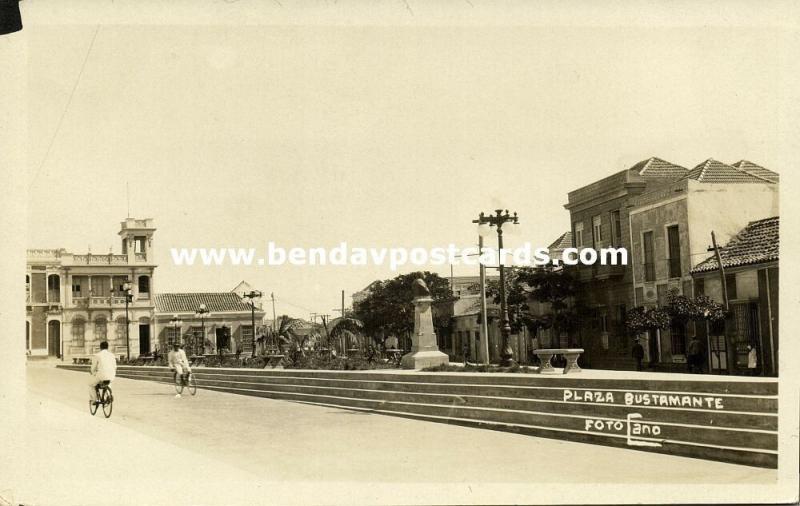 venezuela, MARACAIBO, Plaza Bustamante (1930s) Foto Cano RPPC