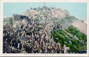 Easter Sunrise Pilgrimage Riverside CA Calif Glenwood Mission Inn Postcard E48