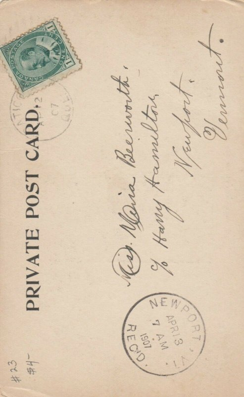 COATICOOK, Quebec, Canada, 1907 ; Eastern Townships Bank & Post Office