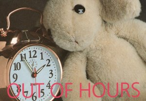 Teddy Bear Vintage Big Bell Alarm Clock Emergency Postcard