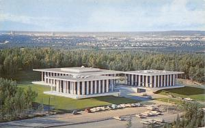 Anchorage Alaska~Methodist University~1950s Birdseye Postcard