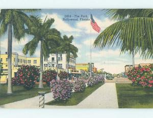 Unused Linen SHOPS ALONG THE STREET Hollywood - Near Miami Florida FL hk6446