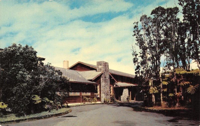 Hawaii~Historic Volcano House Overlooking Kilauea Crater~1960 Postcard