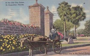 Florida Saint Augustine At The Old City Gates 1947