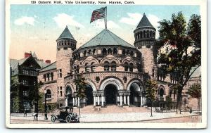 Postcard CT New Haven Osborn Hall Yale University D9