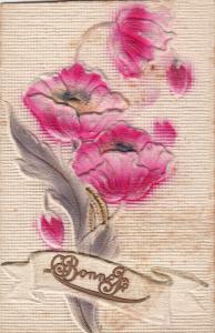Very embossed 1913 postcard poppies flowers fantasy
