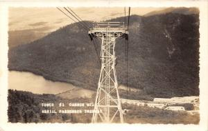 Tower #1 Cannon Mountain~Aerial PassengerTramway~RPPC pm @ North Woodstock NH