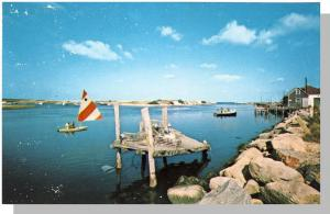 Martha's Vineyard, Mass/Ma Postcard,Menemsha Harbor/Cape Cod