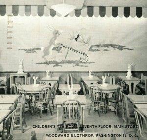 Woodward & Lothrop Children's Tea Room 7th Floor Washington DC Postcard 1951