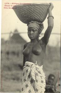 CPA Senegal Ethnic Nude Fortier - 1374. Étude N 53 Fille Soussou (70924)