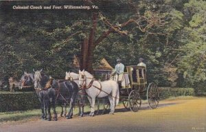 Colonial Coach And Four Williamsburg Virginia