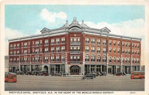 F15/ Sheffield Alabama Postcard c1910 Muscle Shoals District Hotel
