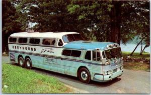 1961 GREYHOUND BUS Ad Postcard Through Vacation Wonderland by Scenicruiser