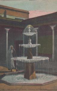 Tunis Tunisia Le Bardo Water Fountain Petit Patio Old Antique Postcard