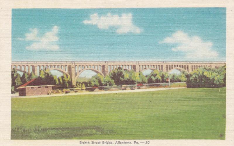 8th Street Bridge, ALLENTOWN , Pennsylvania, 1930-1940s