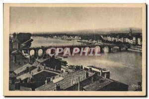 Postcard Old Macon S and L Lamartine Panoramic view of Fatherland