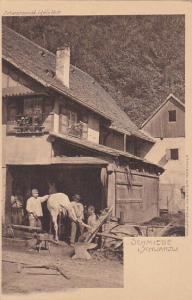 GERMANY, 1890s; Schmiede i. Schwarzw., Blacksmith at work