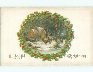 Divided-Back CHRISTMAS SCENE Great Postcard W8831