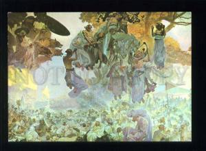 208448 CZECH Alfons Mucha festival of Svantovit old postcard