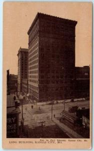 KANSAS CITY, Missouri  MO    LONG BUILDING  1910  Sepia  Postcard