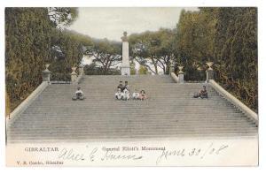 Gibraltar General Eliott's Monument Column 1908 Postcard