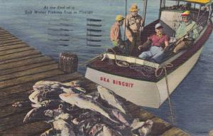 Sea Biscuit Fishing Boat, At The End Of A Salt Water Fishing Trip In Florida,...