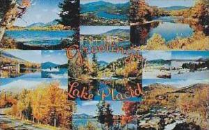 New York Lake Placid Greetings From Lake Placid in The Adirondacks Multi View